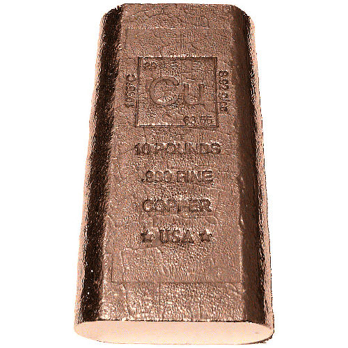Buy 10 Pound Copper Bullion Bars 999 10 Lb L Jm Bullion