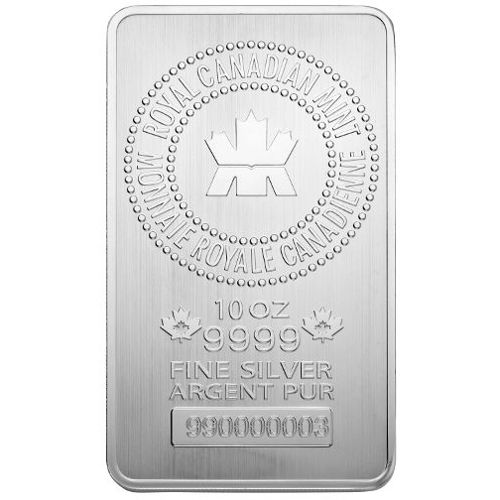 Buy 10 Oz Rcm Silver Bars Online 9999 Pure Jm Bullion