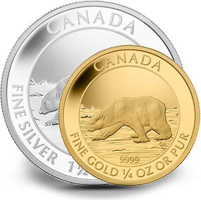 Buy 2013 Polar Bear Coin Proof Sets Gold Silver L Jm