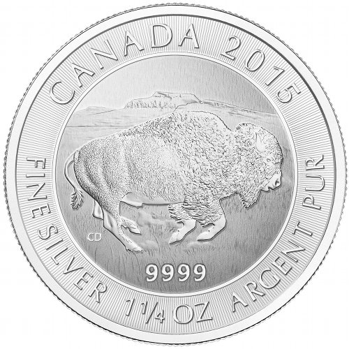 NPI-2788 2015 $8 1.25oz AG Bison reverse rev2