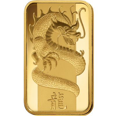 1 Oz Pamp Suisse Lunar Dragon Gold Bar New W Ay
