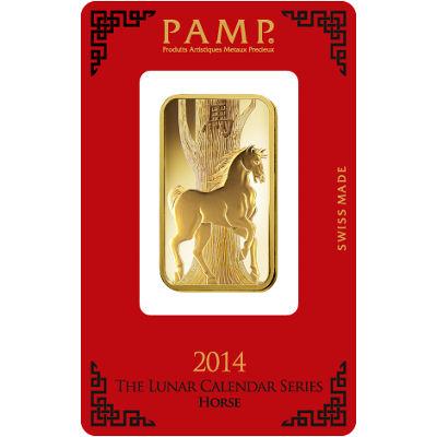 Buy 1 Oz Pamp Suisse Lunar Horse Gold Bars New L Jm Bullion