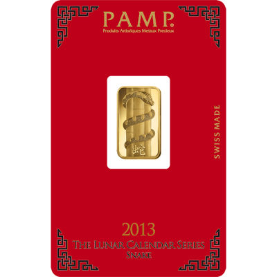 Buy 5 Gram Pamp Suisse Lunar Snake Gold Bars New L Jm