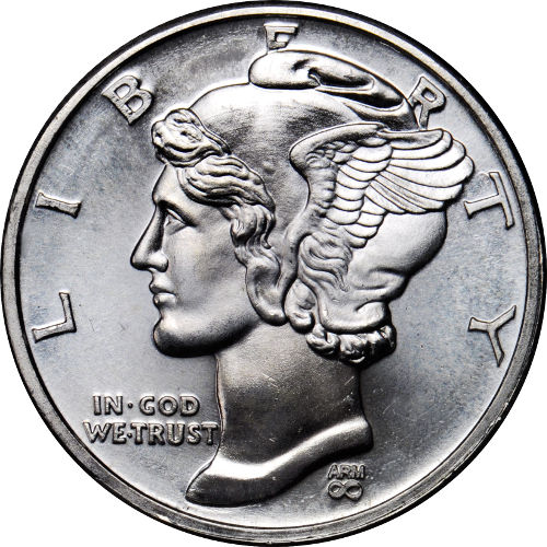 Buy 1 2 Oz Arm Mercury Dime Silver Rounds Online New Jm