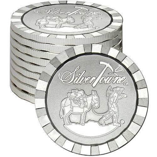 Buy 1 Oz Silvertowne Stackable Silver Rounds L Jm Bullion