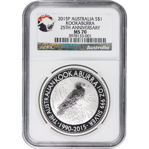 Buy 2015 1 Oz Silver Kookaburra Coins Ngc Ms70 L Jm Bullion