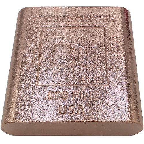 Buy 5 Pound Copper Bullion Bars 999 5 Lb L Jm Bullion