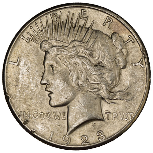 Peace Silver Dollar Coin (Cull)