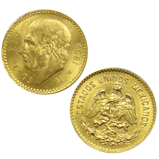 Buy Mexican 10 Peso Gold Coins Online 900 Pure L Jm