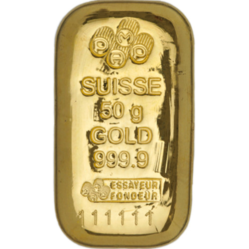 Buy 50 Gram Pamp Suisse 9999 Gold Bars Online New L Jm