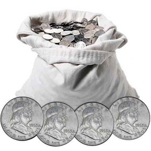 90% Silver Franklin Half Dollars ($100 FV)