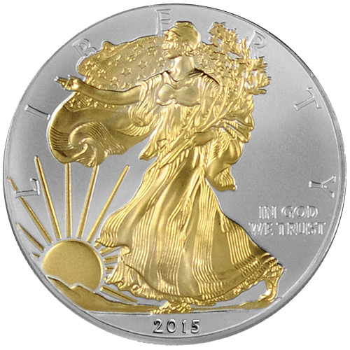 Buy 2015 Gilded American Silver Eagle Coins Online L Jm