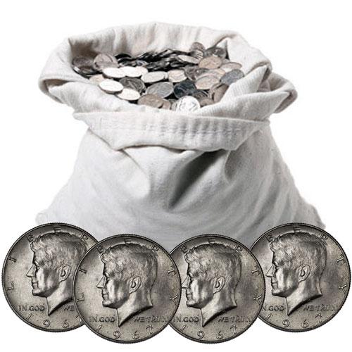40 Silver Coins 100 Fv Halves