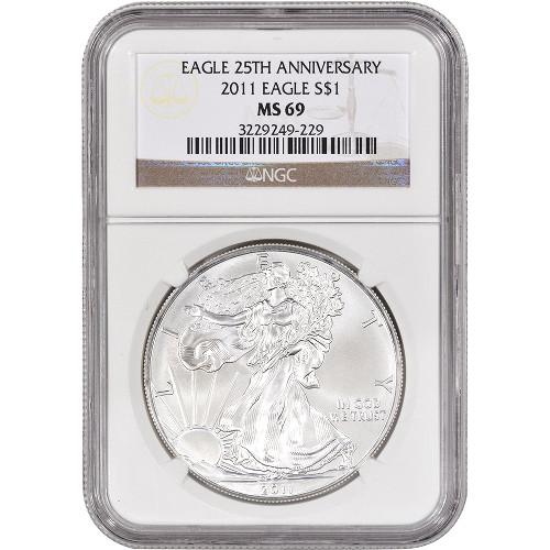 2011 american silver eagle 25th anniversary