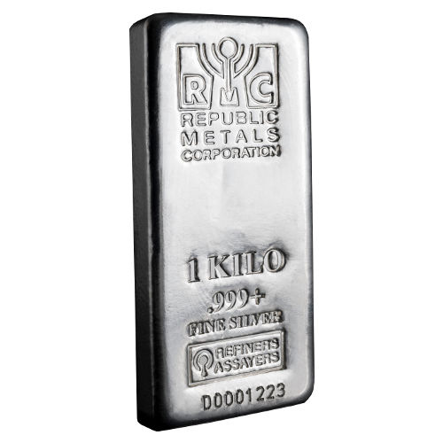 Buy 1 Kilo Rmc Silver Bars 999 Pure Jm Bullion