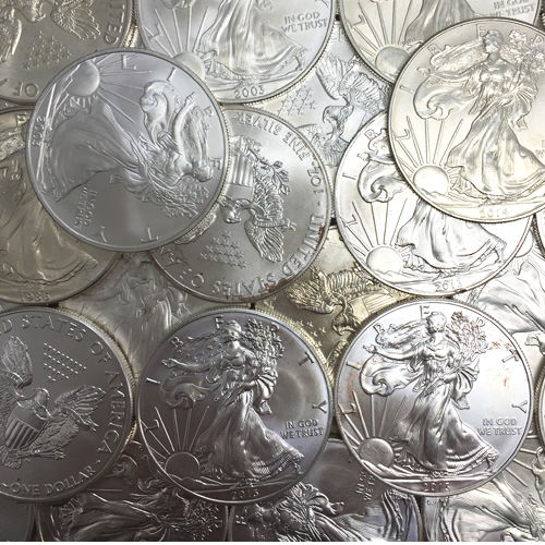 1 Oz American Silver Eagle Coin Varied Year Cull Damaged