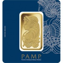 gold fortuna veriscan bar in assay - PAMP Suisse Obverse