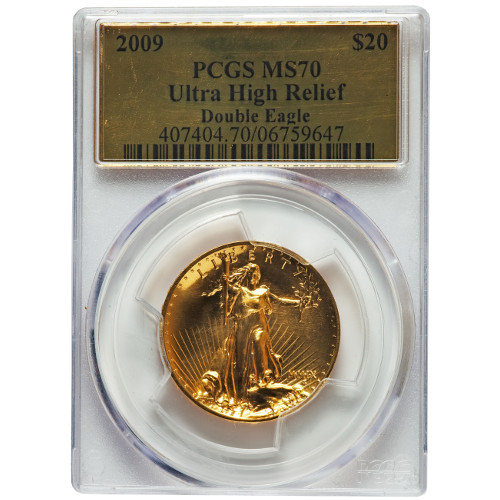 Buy 2009 1 Oz Ultra High Relief Gold Eagles Pcgs Ms70