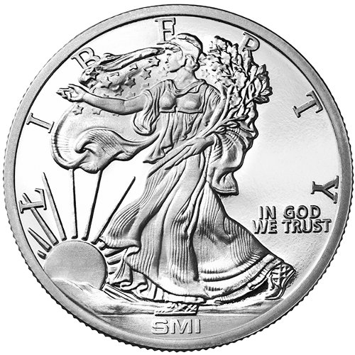Buy 1 Oz Sunshine Walking Liberty Silver Rounds Online L