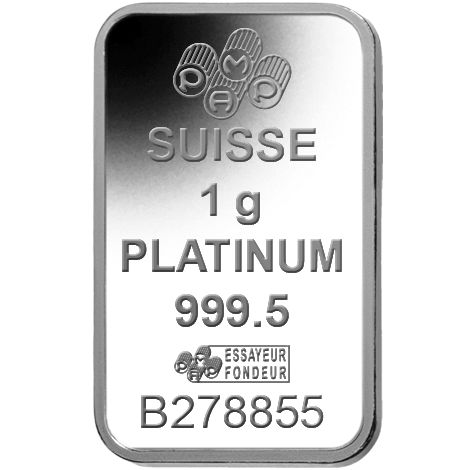 Buy 1 Gram Pamp Suisse 9995 Platinum Bars L Jm Bullion