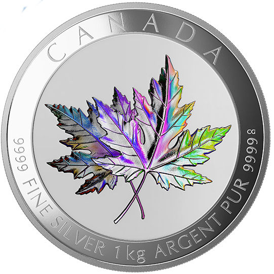 2015 1 Kilo 250 Canadian Silver Maple Leaf Forever Coin