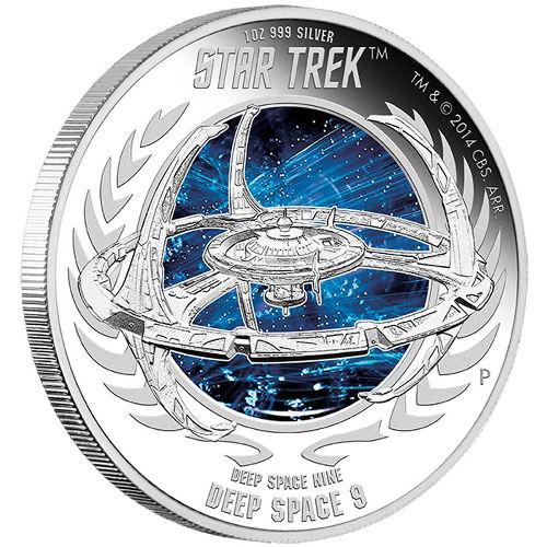 2015-P $1 PCGS PR70DCAM Tuvalu STAR TREK DEEP SPACE  9 .999 Silver Proof Coin