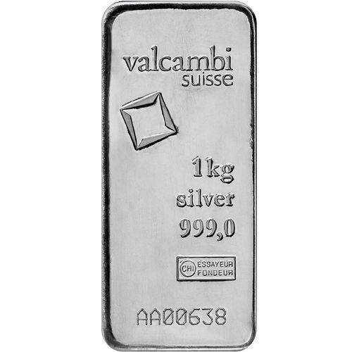 Buy 1 Kilo Valcambi Cast Silver Bars Brand New L Jm Bullion