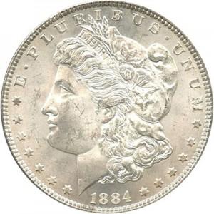 1884 CC $1 MS Morgan Dollars | NGC