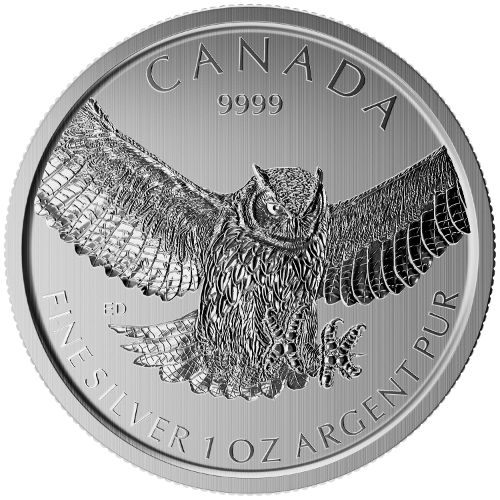 Buy 2015 Canadian Silver Great Horned Owl Coins Online L