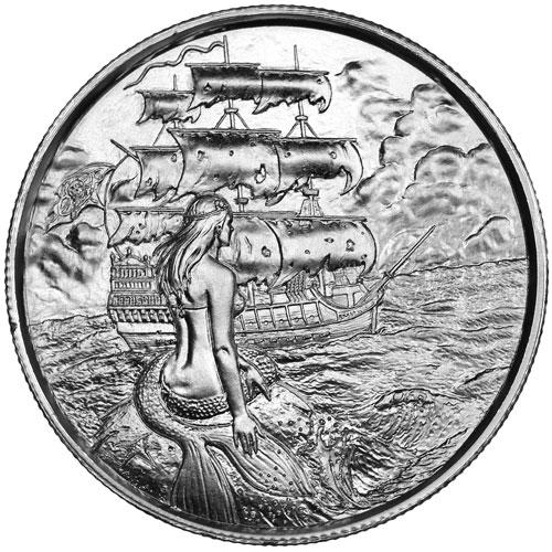 Privateer series. 2 onzas de plata high relief SREMSIRENHR2-obverse