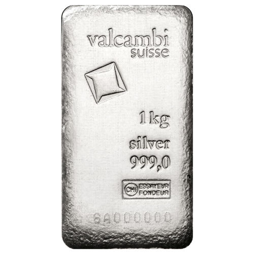 Buy 1 Kilo Valcambi Cast Silver Bars New Antique Finish