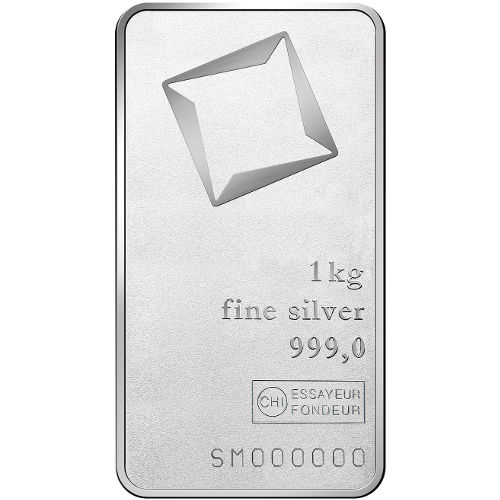 Buy 1 Kilo Valcambi 999 Silver Bars New Matte Finish L