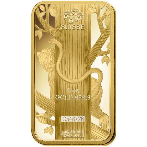 Buy 1 Oz Pamp Suisse Lunar Monkey Gold Bars New L Jm