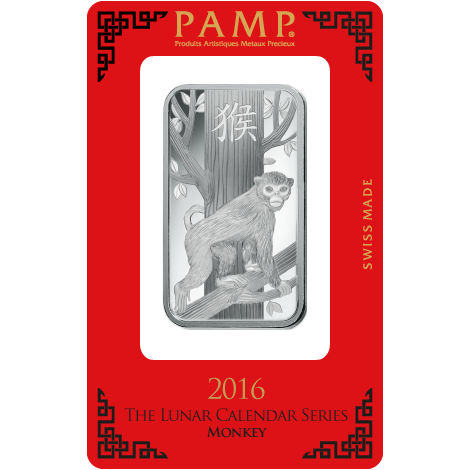 Buy 1 Oz Pamp Suisse Lunar Monkey Silver Bars L Jm Bullion
