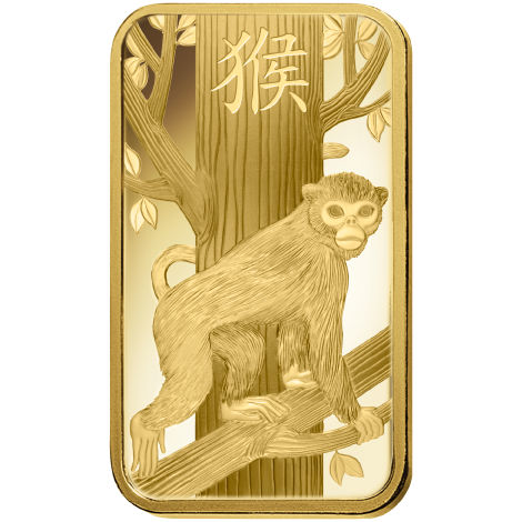 Buy 100 Gram Pamp Suisse Lunar Monkey Gold Bars L Jm Bullion