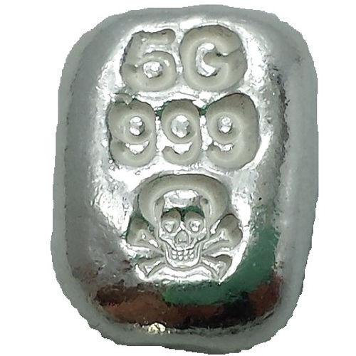 5g Atlantis Skull Amp Crossbones Silver Bars L Jm Bullion