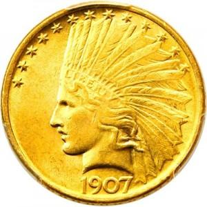 Indian Head 10 Gold Coin 1907 1933 Value Jm Bullion