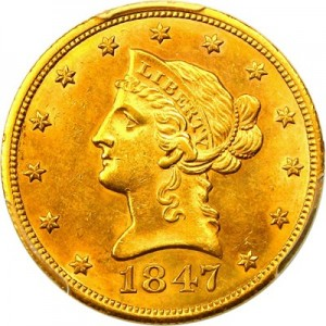 The 10 Liberty Gold Coin For Its Day Was A Piece That Had An Extremely Large Face Value And Not As Widely Circulated Pennies Nickels