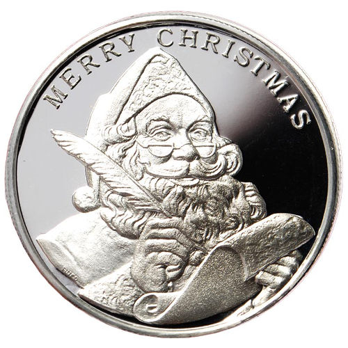 Buy 1 Oz Christmas Silver Rounds Online L Jm Bullion