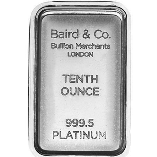 Buy 1 10 Oz Baird Mint Platinum Bars Online L Jm Bullion
