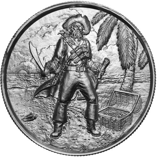 Buy 2 Oz The Captain Ultra High Relief Silver Rounds 166 Jm