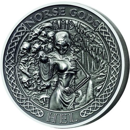 Buy 2015 2 Oz Cook Islands Silver Norse Gods Hel Coins L