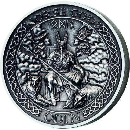 2015 2 Oz Cook Islands Silver Norse Gods Odin Coins L Jm