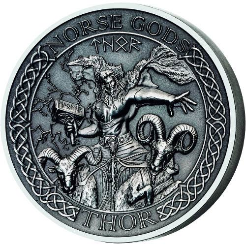 Buy 2015 2 Oz Cook Islands Silver Norse Gods Thor Coins L