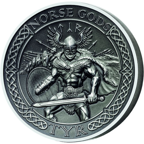 Buy 2015 2 Oz Cook Islands Silver Norse Gods Tyr Coins L
