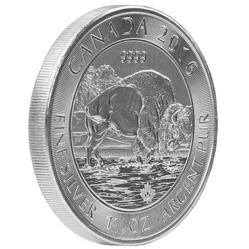 Buy 1 25 Oz Canadian Silver Bison Coins Jm Bullion