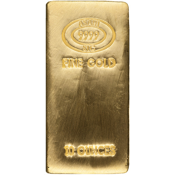 Buy 10 Oz Asahi Gold Bars Online 9999 Pure Jm Bullion