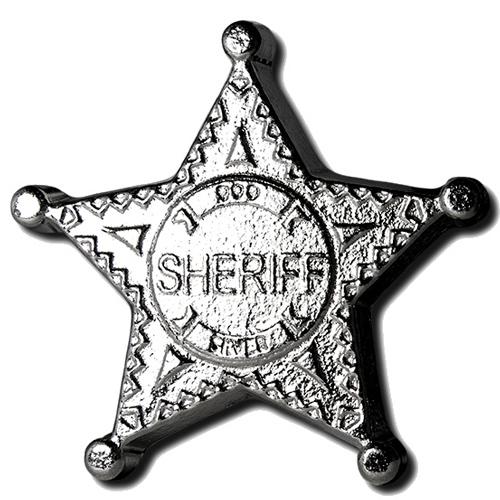 Buy 5 Oz Monarch Silver Sheriffs Badge Bar L Jm Bullion