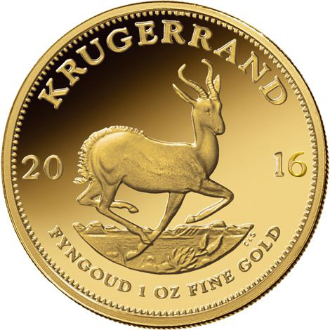 2016 1 Oz South African Gold Krugerrands Jm Bullion
