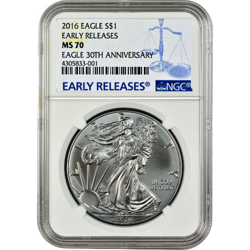 Buy 2016 American Silver Eagles Ngc Ms70 Er Jm Bullion